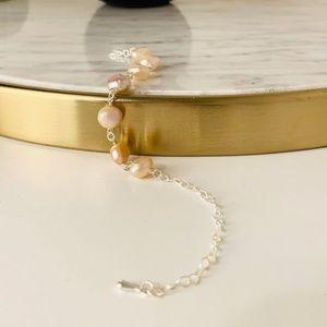 Layla Pink Pearl Bracelet in Sterling Silver
